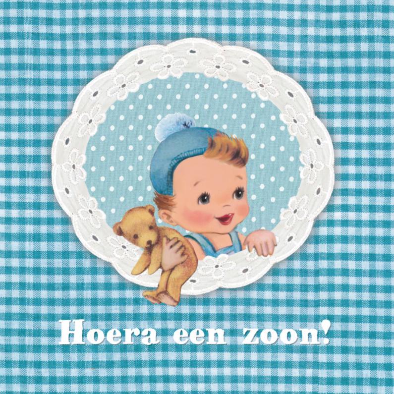 retro babykaart jongen 1