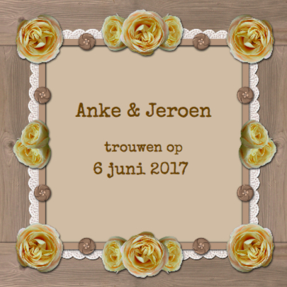 Romantisch houten lijst rozen 2