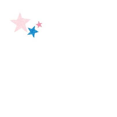 Roze en blauwe sterren in hart 2