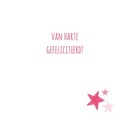 Roze hart met sterren  3