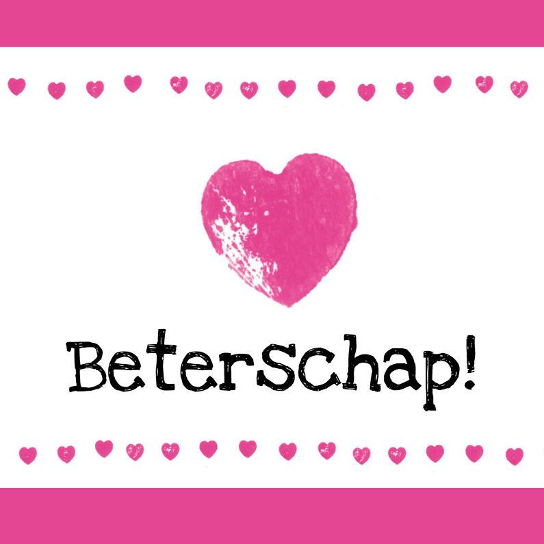 Roze harten beterschap 1
