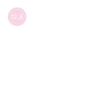 Roze jubileumkaart 12.5 2
