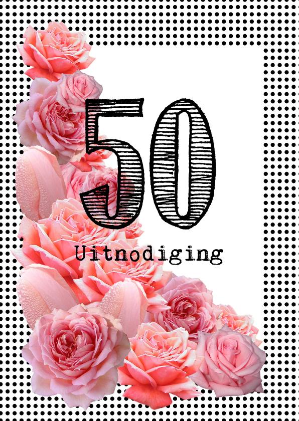 Roze Rozen 50 uitnodiging 1