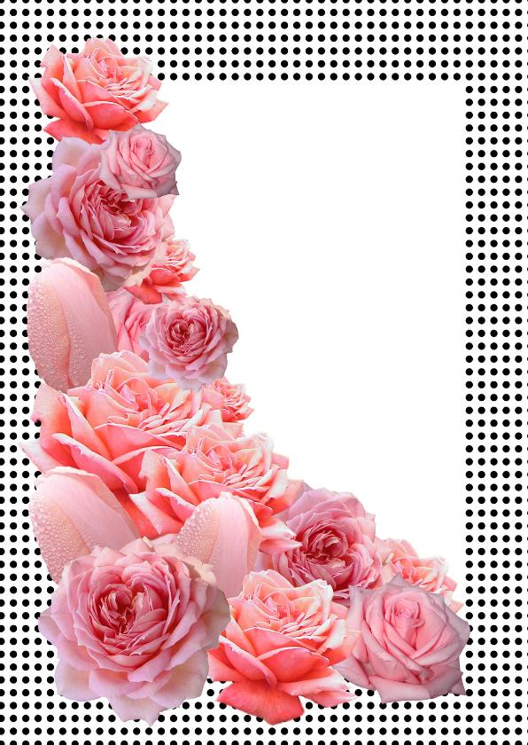 Roze Rozen Uitnodiging  1