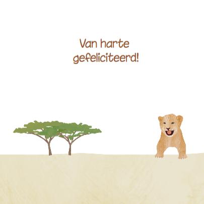 Safari dieren verjaardagskaart  3
