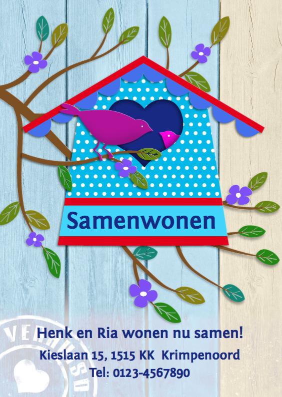 Samenwonen met huisje en vogels 1