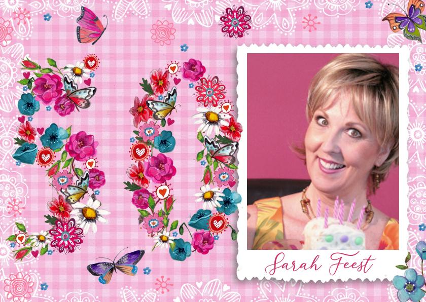 Sarah Uitnodiging 50 jaar Foto Vrouw 1