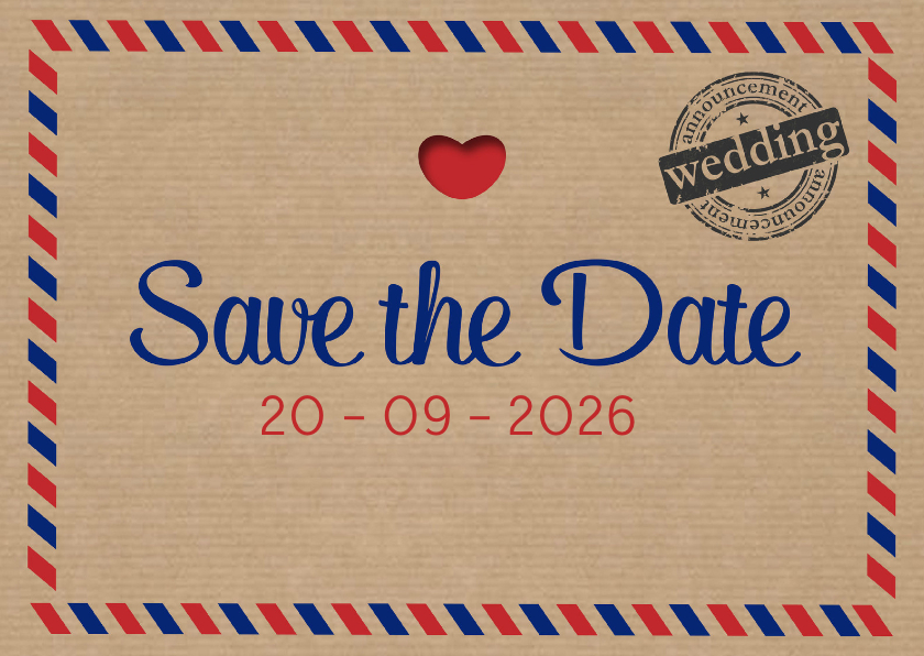 Save the date air mail - DH 1