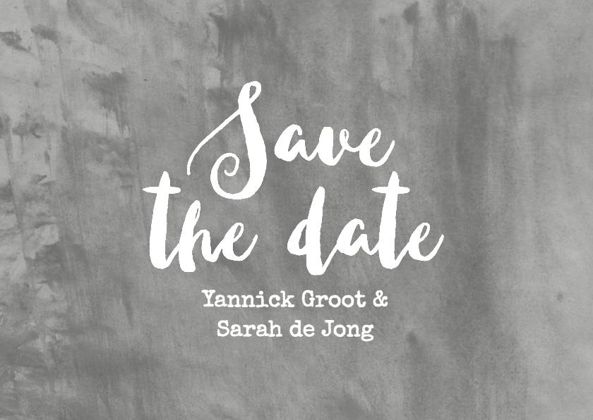 Save The Date aquarel grijs 2