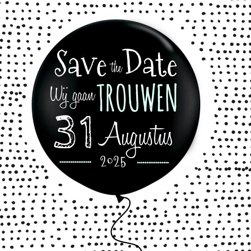 Save the Date ballon 1