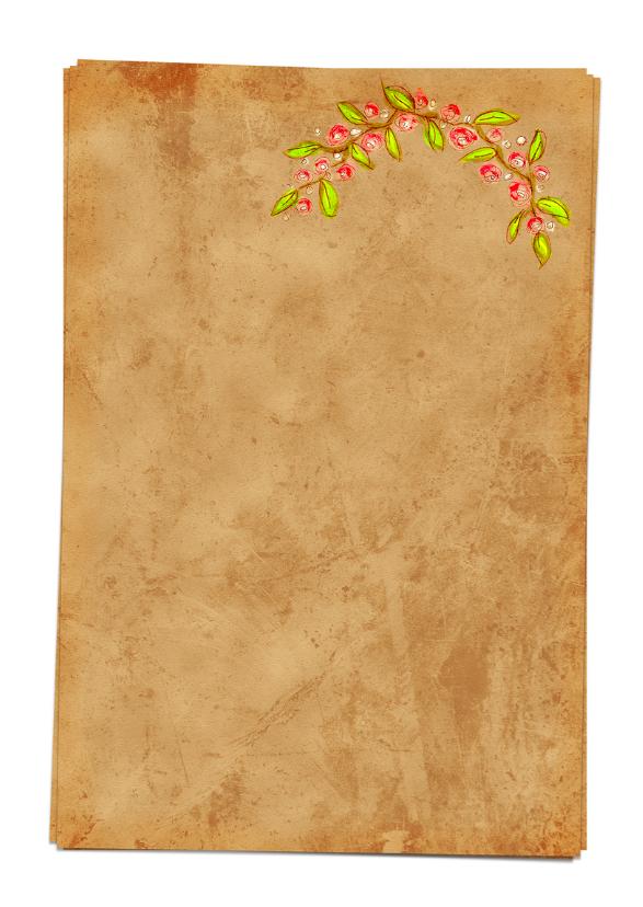 Save the Date bloemen papier- HR 3