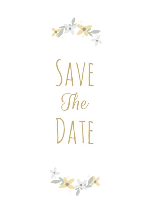 Save the Date bloemen 1