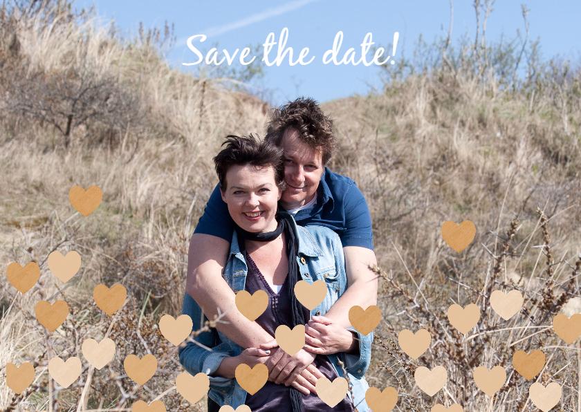 Save the date eigen foto hartjes 1