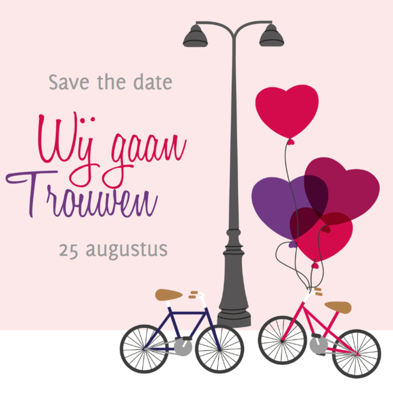 Save the date fiets 1 1