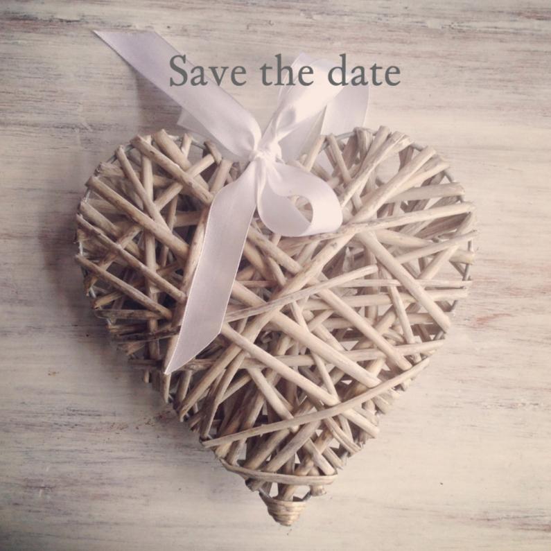 Save the date hart instagramstijl 1