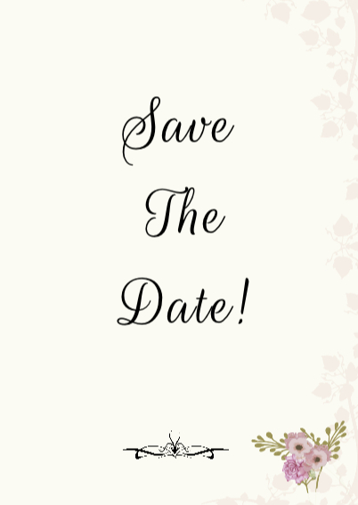 Save The Date hart tekst 3