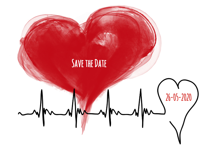 Save the Date hartslag - SG 1
