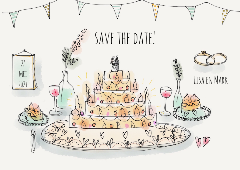 Save the Date Illustratie 1