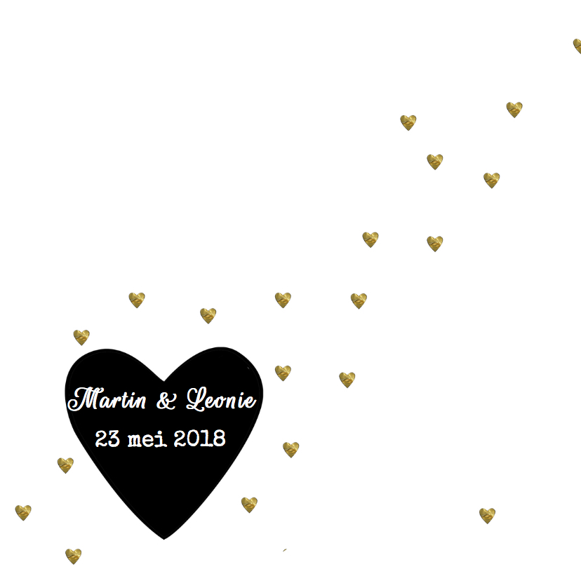 save the date kaart hartjes 2