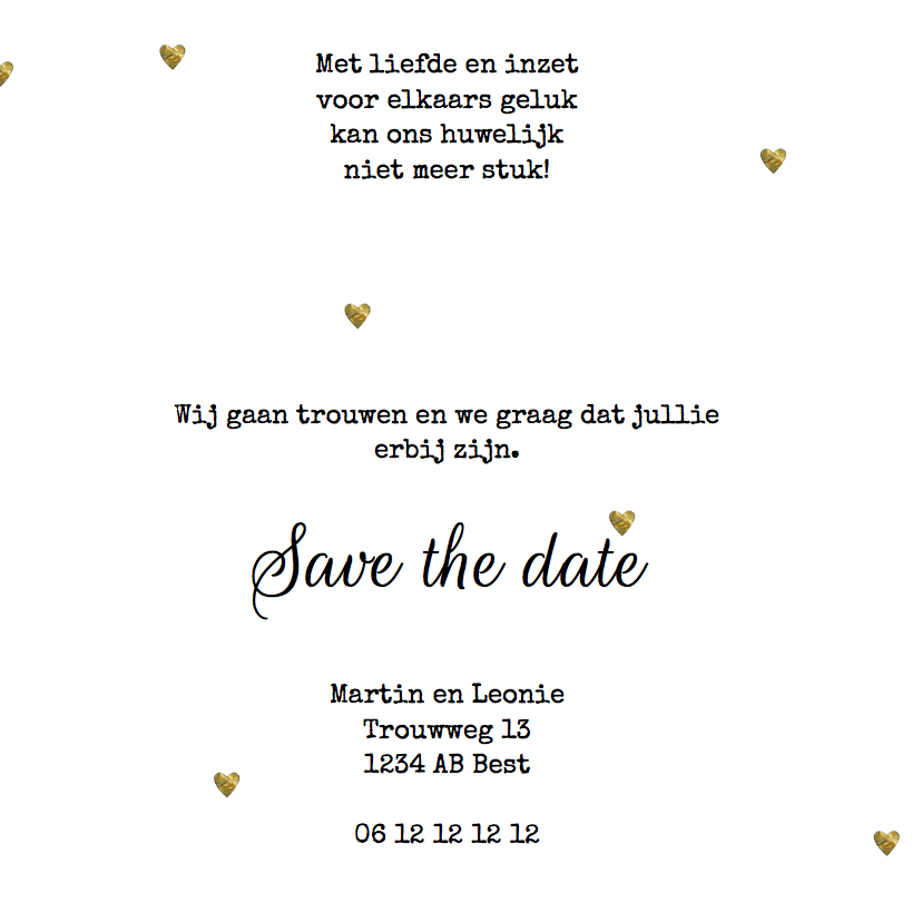 save the date kaart hartjes 3