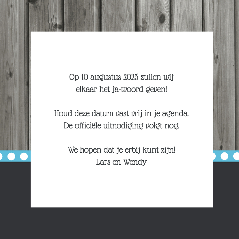 Save the date met hart - DH 3