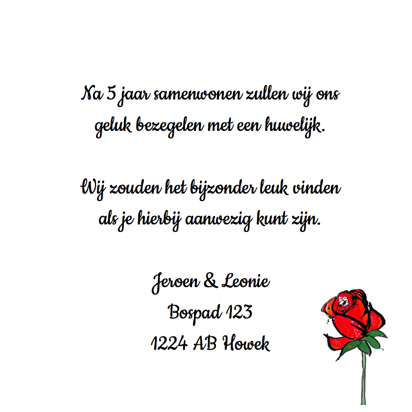 Save the date rozen 3