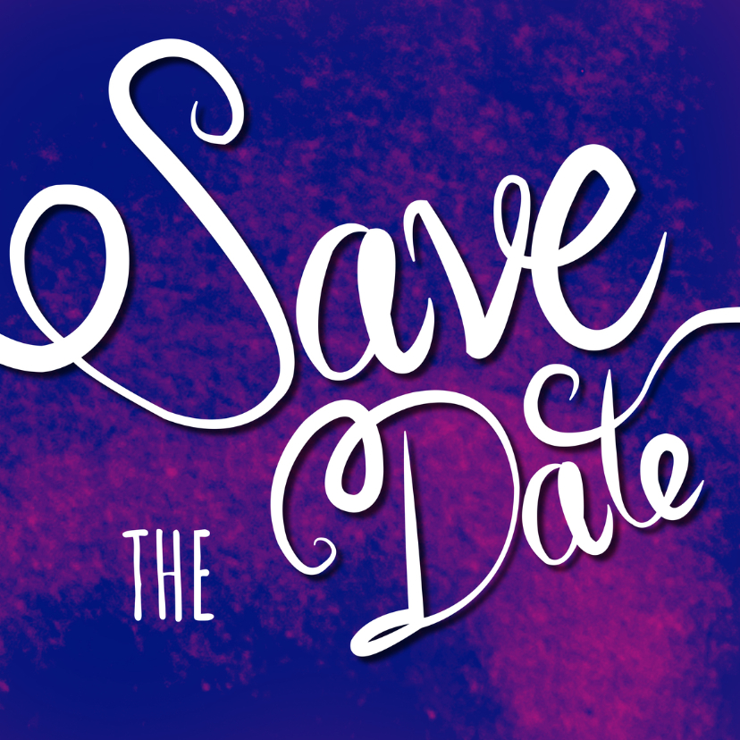 Save the date - tekst paars - MD 1