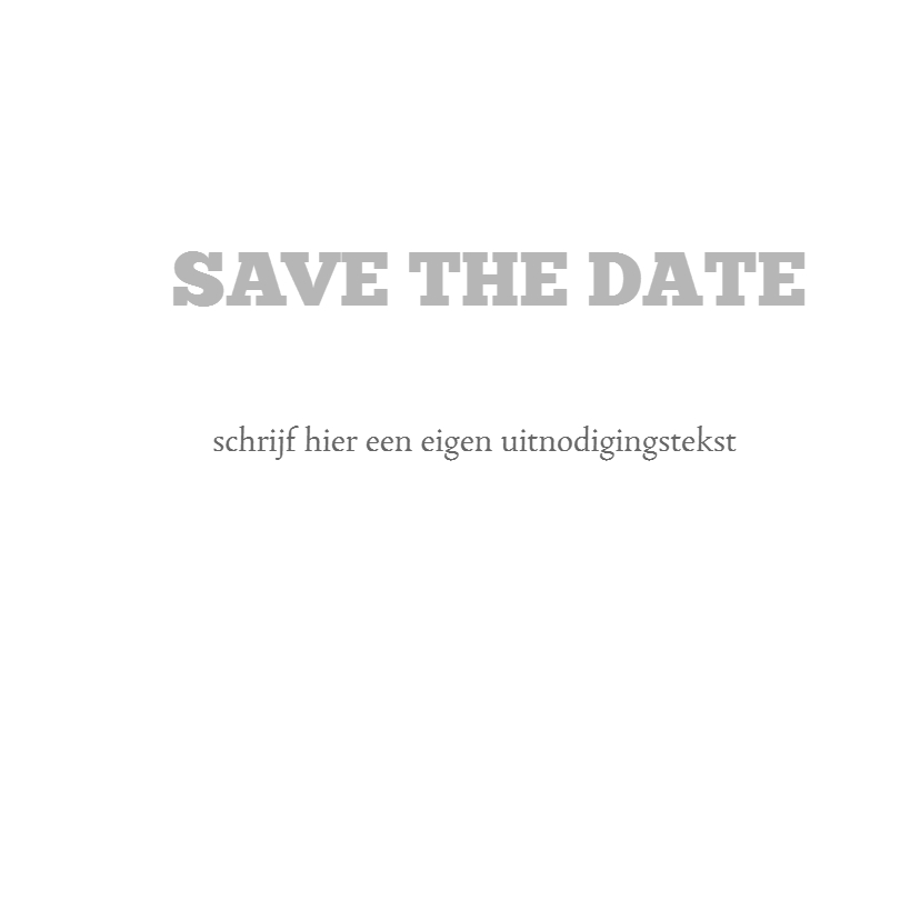 Save the date typo 3