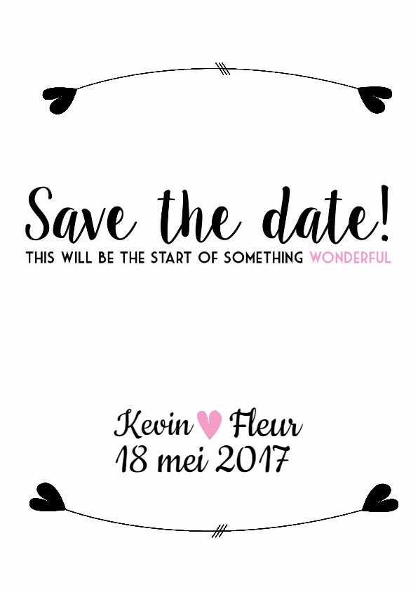 Save the Date - Wonderful 1