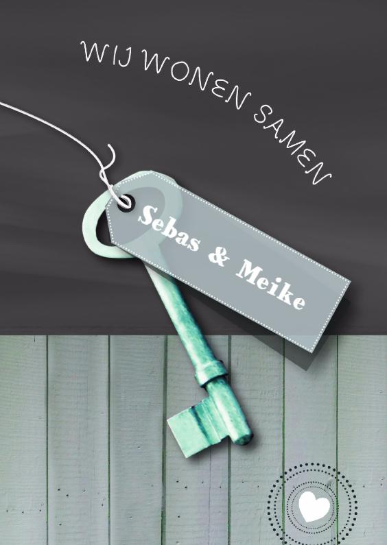 Schoolbord Hout Sleutel print 1