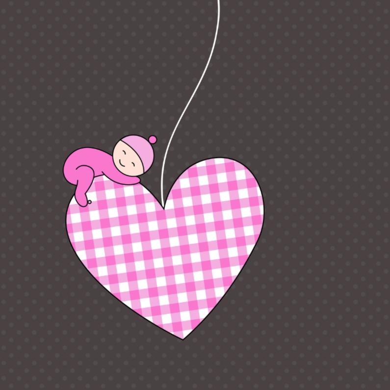 Slapend meisje op hartje 1
