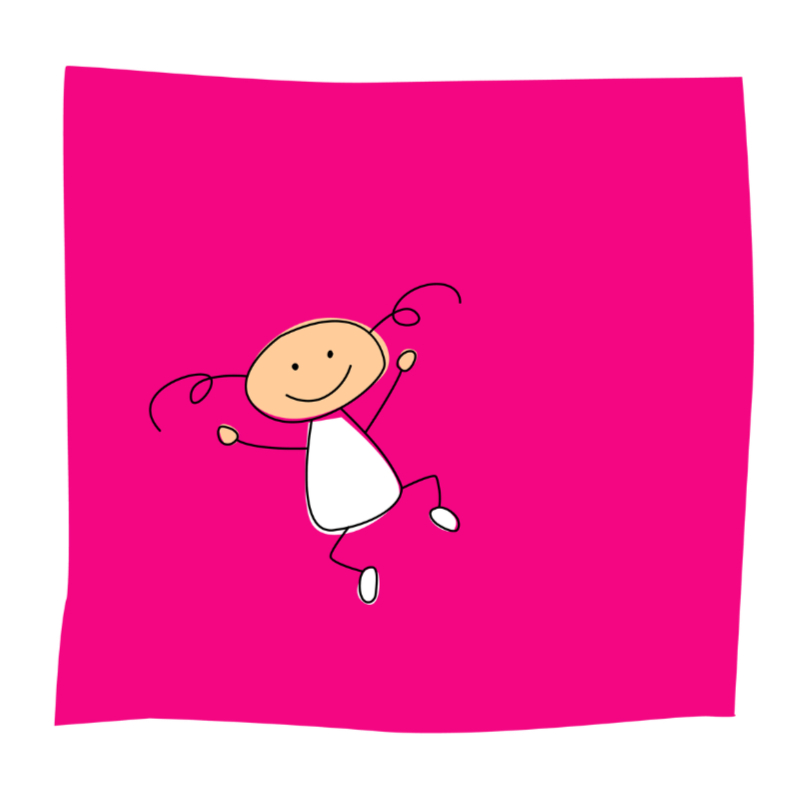 Springend meisje 1