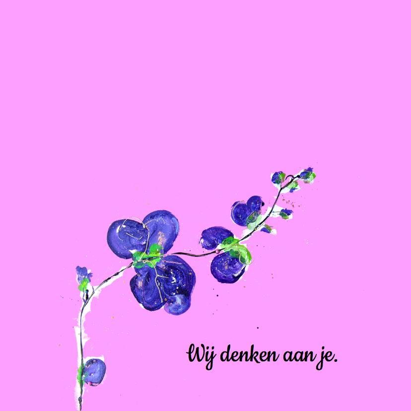 Sterkte kaart roze orchidee 2