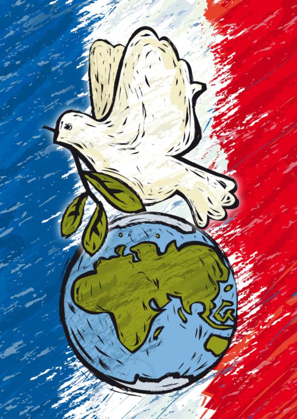 Sterkte Parijs vrede duif YVON 1