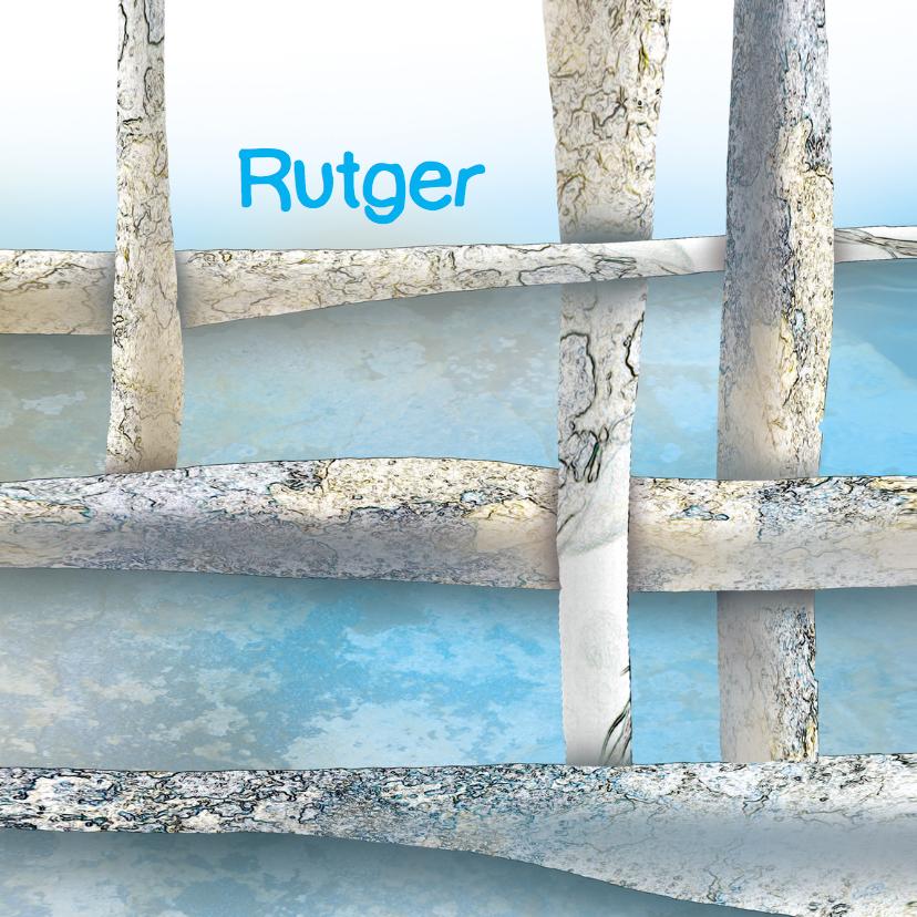 Stoer geboortekaartje Rutger 1