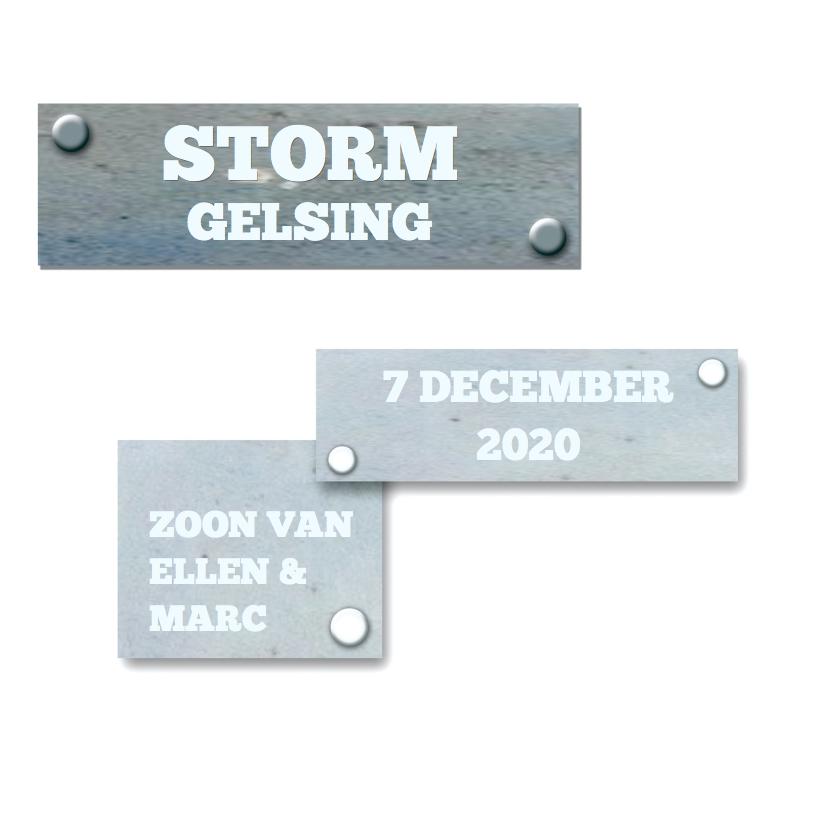 Stoer geboortekaartje Storm 3