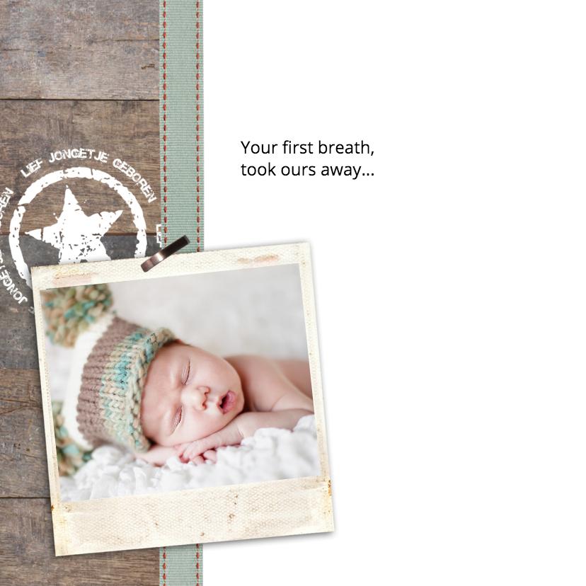 Stoere jongen foto geboorte 2