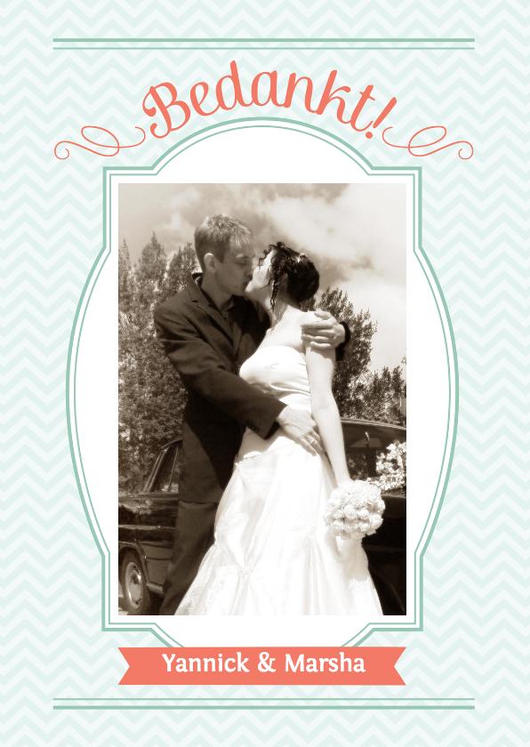 Kaarten huwelijk versturen : Streep bedankkaart huwelijk trouwkaarten kaartje go