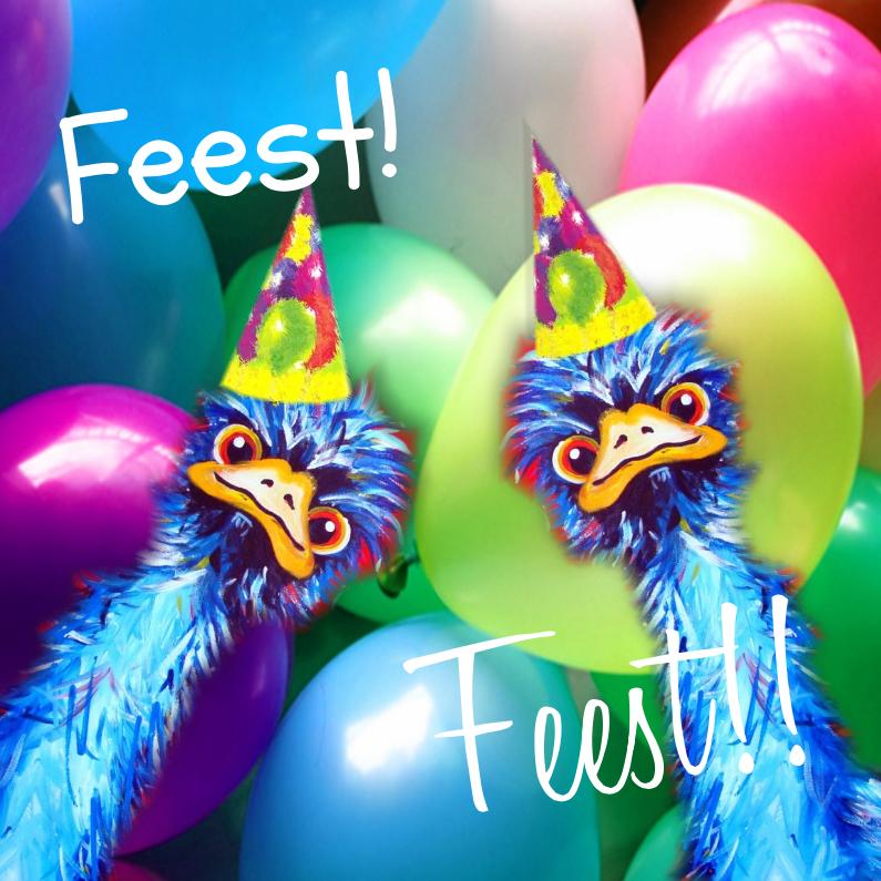 Struisvogel feestje 1