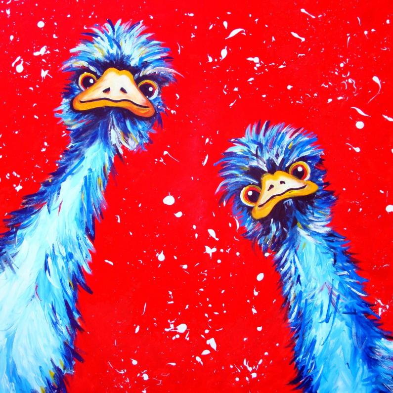Struisvogels zomaarkaart 1