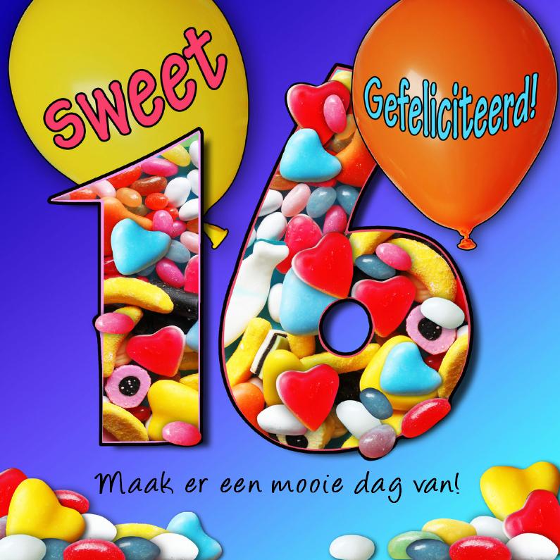 Sweet sixteen, met snoep  1