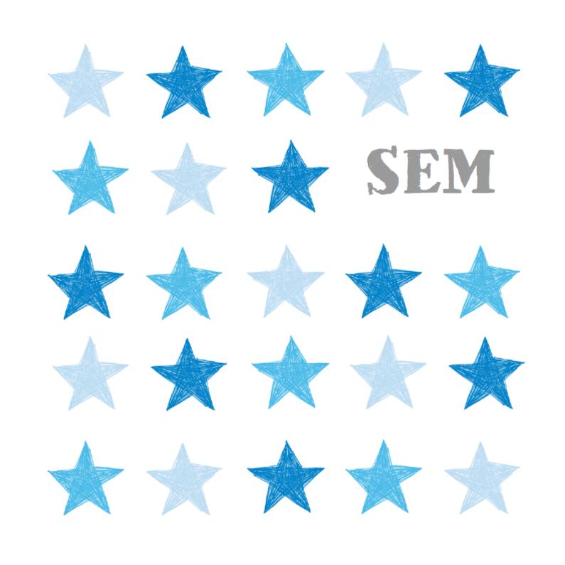 Tekening blauwe sterren jongen 1