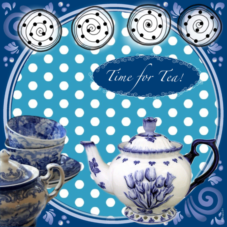 Time for Tea Delfs blauw 1