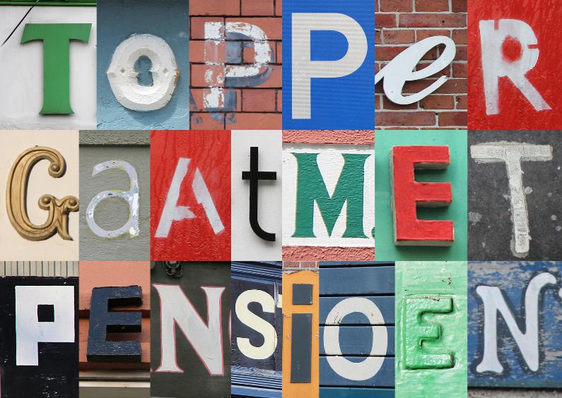 Topper met pensioen - letters 1