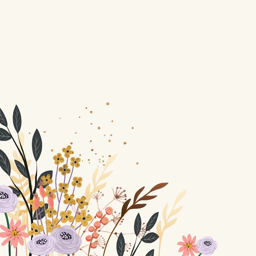 Transportfiets met bloemen 2