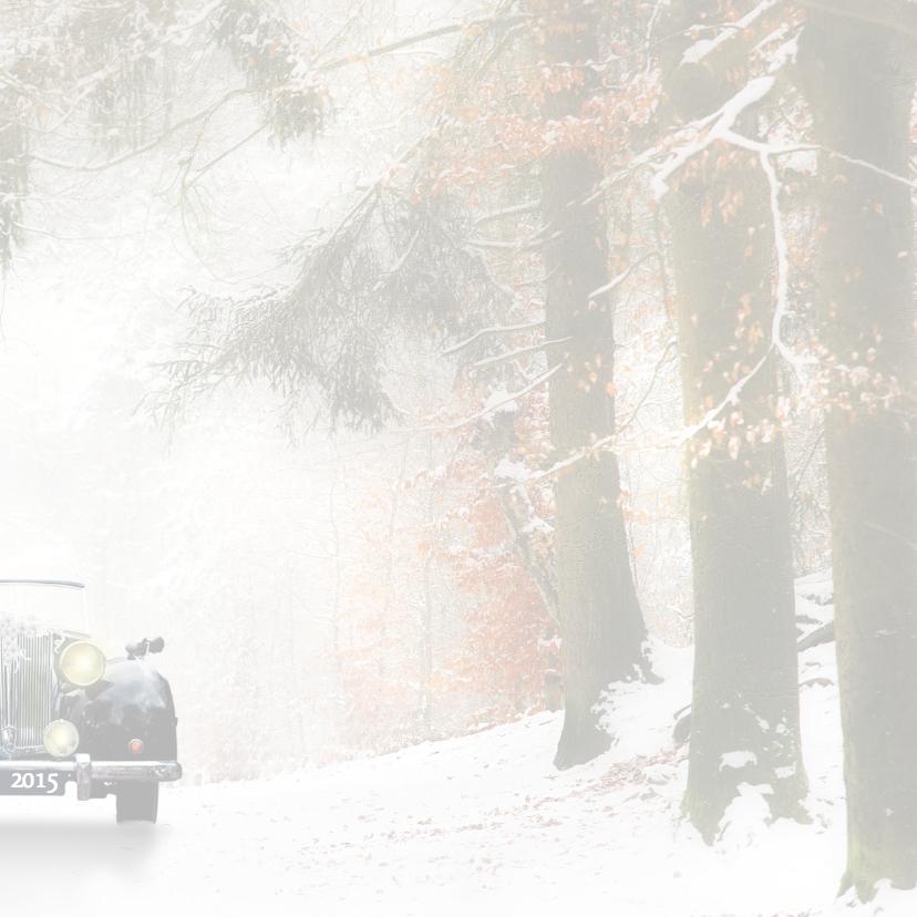 Trouwen met zwarte oldtimer -sneeuw- 3