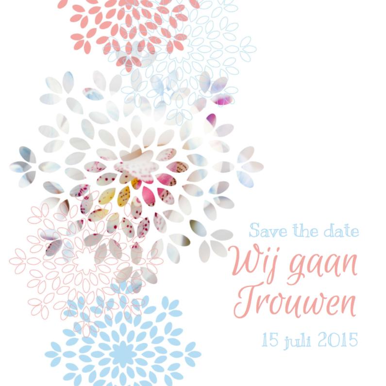 Trouwkaart bloem 3 1