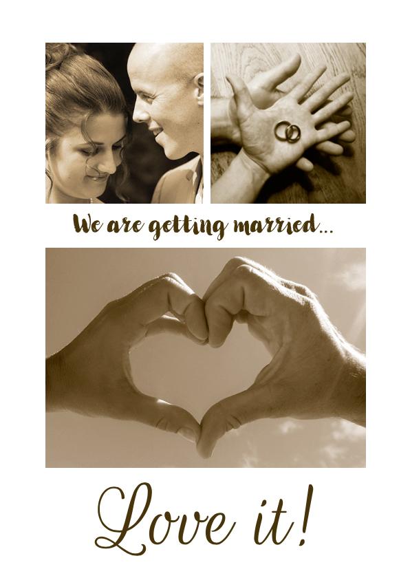 Trouwkaart Collage romantisch 1
