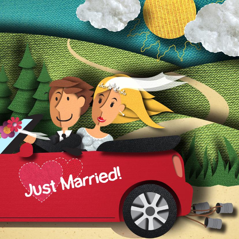 Trouwkaart - Just Married 1