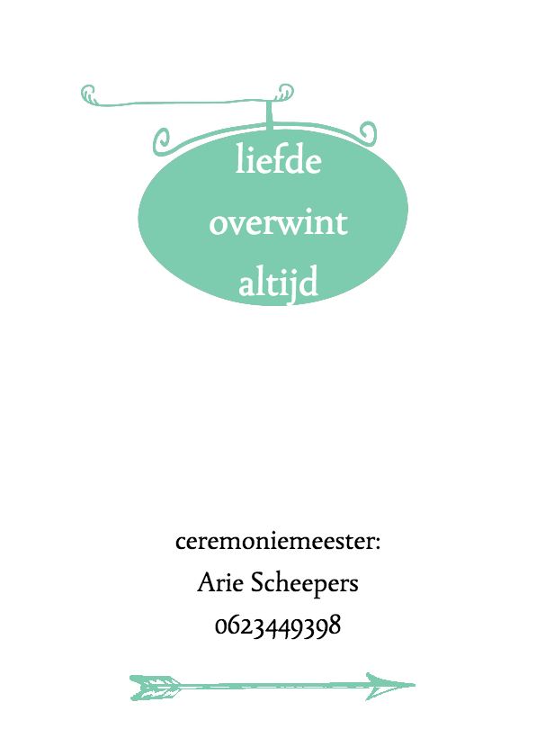 trouwkaart met leuke typografie 2